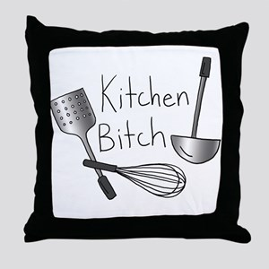Kitchen Bitch Throw Pillow