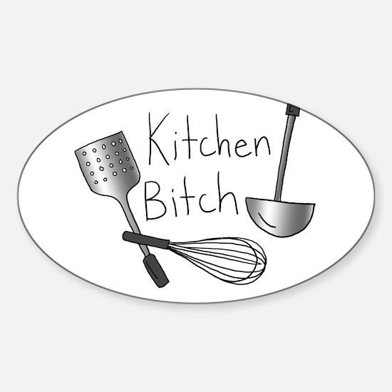 Kitchen Bitch Sticker (Oval)