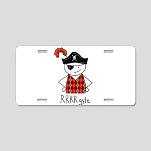 RRRR-gyle Pirate Aluminum License Plate
