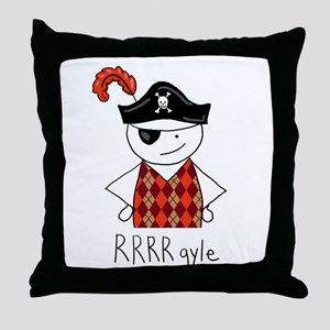 RRRR-gyle Pirate Throw Pillow