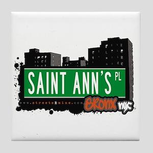 Saint Ann's Pl, Bronx, NYC  Tile Coaster