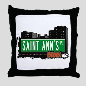 Saint Ann's Pl, Bronx, NYC  Throw Pillow