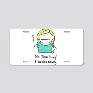 No Touching - Aluminum License Plate