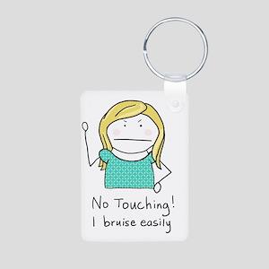 No Touching - Aluminum Photo Keychain