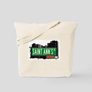 Saint Ann's Pl, Bronx, NYC  Tote Bag