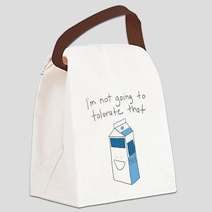 Lactose Intolerance Canvas Lunch Bag