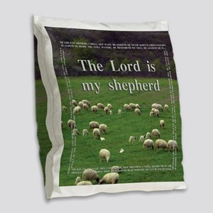 The Lord is My Sheperd - Option 1 Burlap Throw Pil
