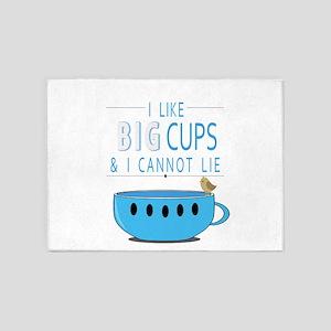 I like big cups I cannot lie 5'x7'Area Rug