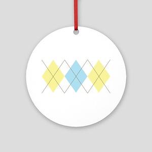 Argyle Pattern Ornament (Round)