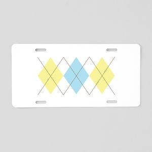 Argyle Pattern Aluminum License Plate