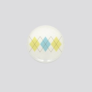 Argyle Pattern Mini Button