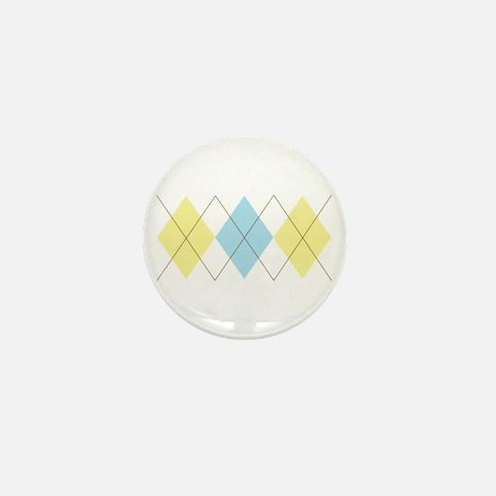 Argyle Pattern Mini Button