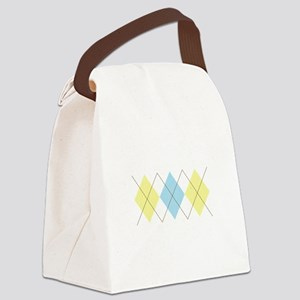 Argyle Pattern Canvas Lunch Bag