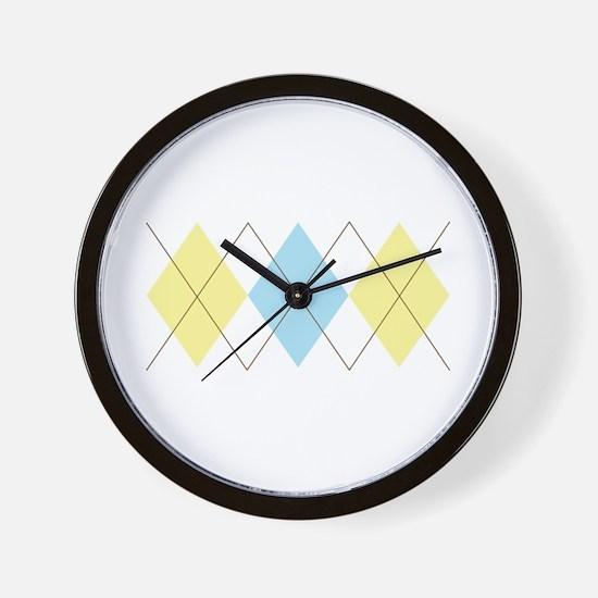 Argyle Pattern Wall Clock