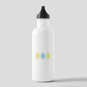 Argyle Pattern Water Bottle