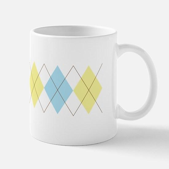 Argyle Pattern Mugs