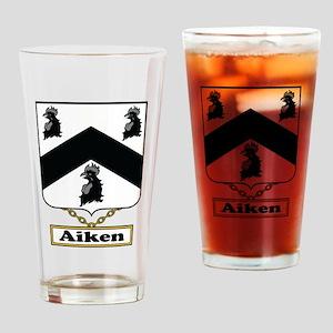 Aiken Family Crest Drinking Glass