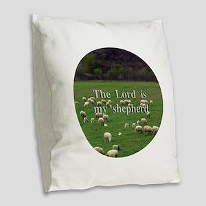 Lord is My Shepherd - Design 2 Burlap Throw Pillow