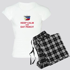 Keep Calm and Eat Pancit Women's Light Pajamas