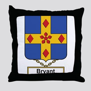 Bryant Family Crest Throw Pillow