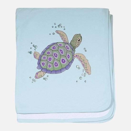 Cute Cute turtle baby blanket