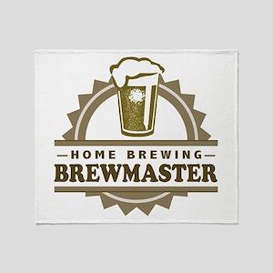 Brewmaster Home Beer Brewer Throw Blanket