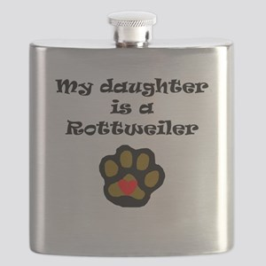My Daughter Is A Rottweiler Flask