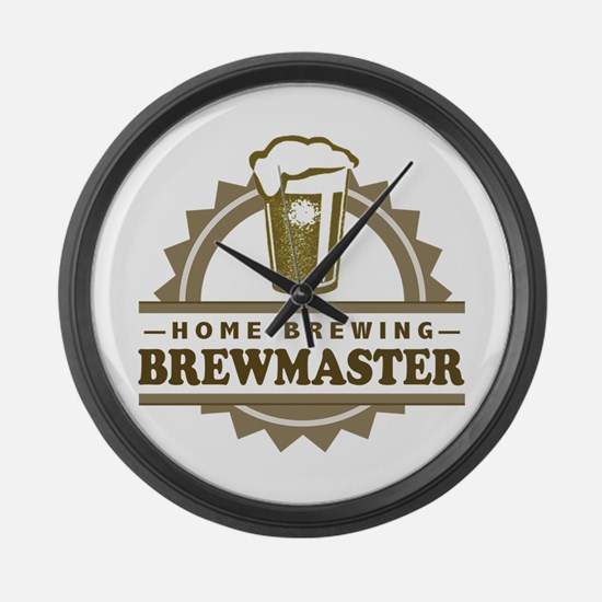 Brewmaster Home Beer Brewer Large Wall Clock