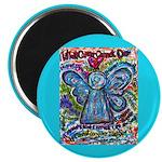 Colorful Cancer Angel Magnet