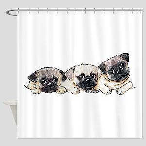 Pocket Pugs Shower Curtain