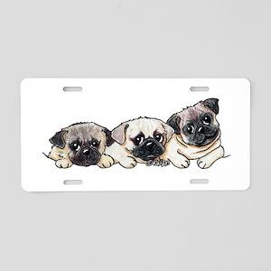 Pocket Pugs Aluminum License Plate