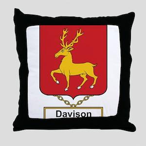 Davison Family Crest Throw Pillow