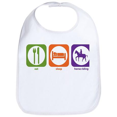 Eat Sleep Horse Riding Bib