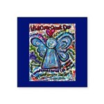 Colorful Cancer Angel Square Sticker 3