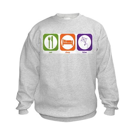 Eat Sleep Kites Kids Sweatshirt