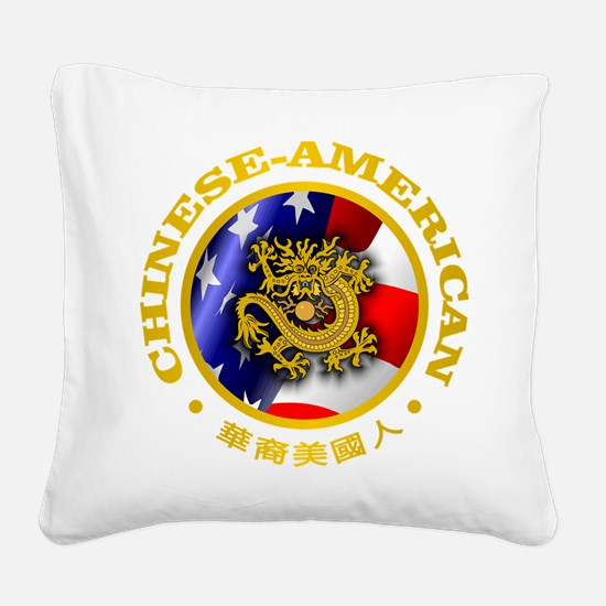 Chinese-American Square Canvas Pillow