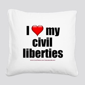 """Love My Civil Liberties"" Square Canvas Pillow"
