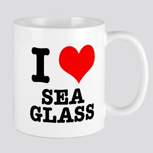 I Heart (Love) Sea Glass Mug