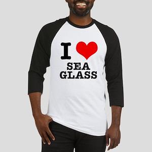 I Heart (Love) Sea Glass Baseball Jersey