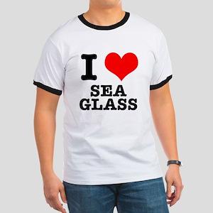 I Heart (Love) Sea Glass Ringer T