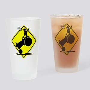 YELLOW RODEO PLACARD 3 Drinking Glass