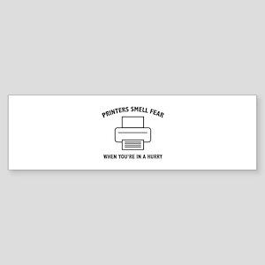 Printers Smell Fear Sticker (Bumper)