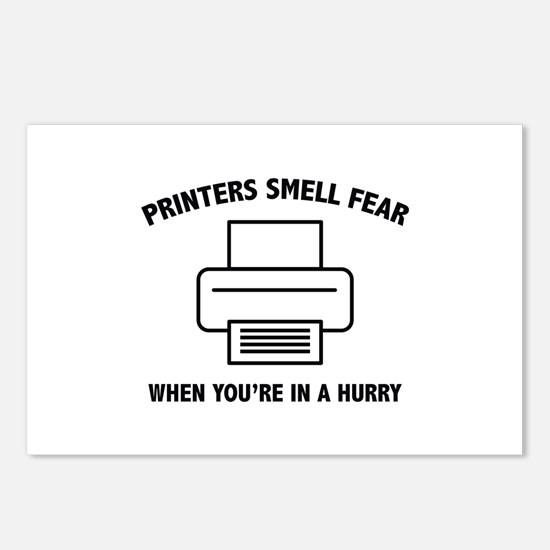 Printers Smell Fear Postcards (Package of 8)