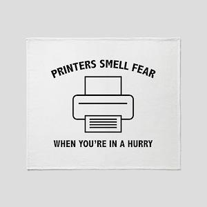 Printers Smell Fear Stadium Blanket