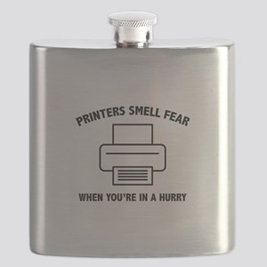 Printers Smell Fear Flask