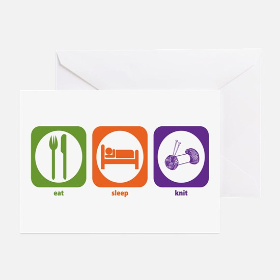 Eat Sleep Knit Greeting Cards (Pk of 10)