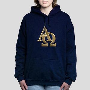 """""""3-D"""" Golden Alpha and Omega Symbol Hooded Sweatsh"""