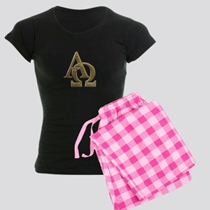 """3-D"" Golden Alpha and Omega Symbol Women's Dark P"