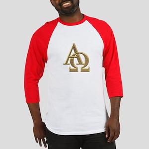 """3-D"" Golden Alpha and Omega Symbol Baseball Jerse"