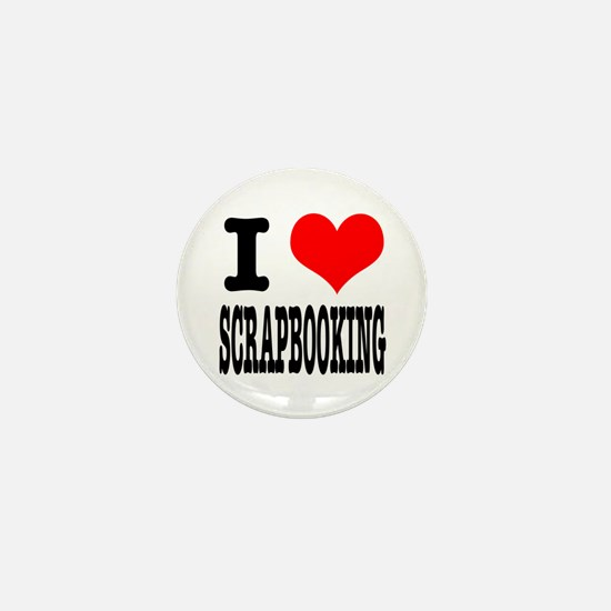 I Heart (Love) Scrapbooking Mini Button